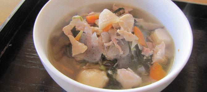 野菜たっぷりスープの年越し蕎麦・うどん